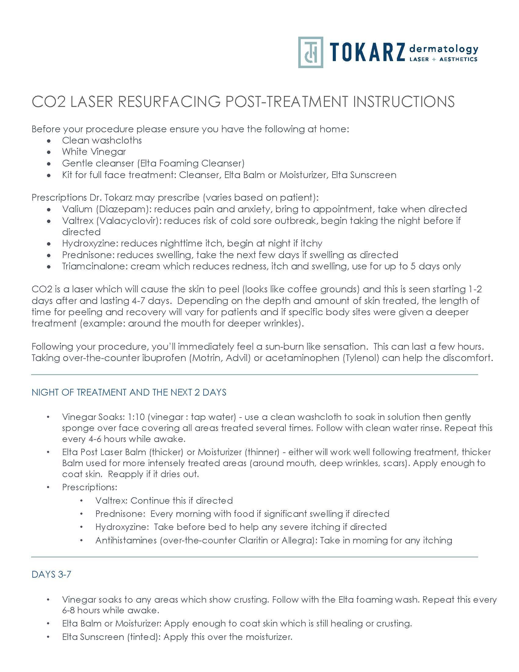 CO2 LASER RESURFACING