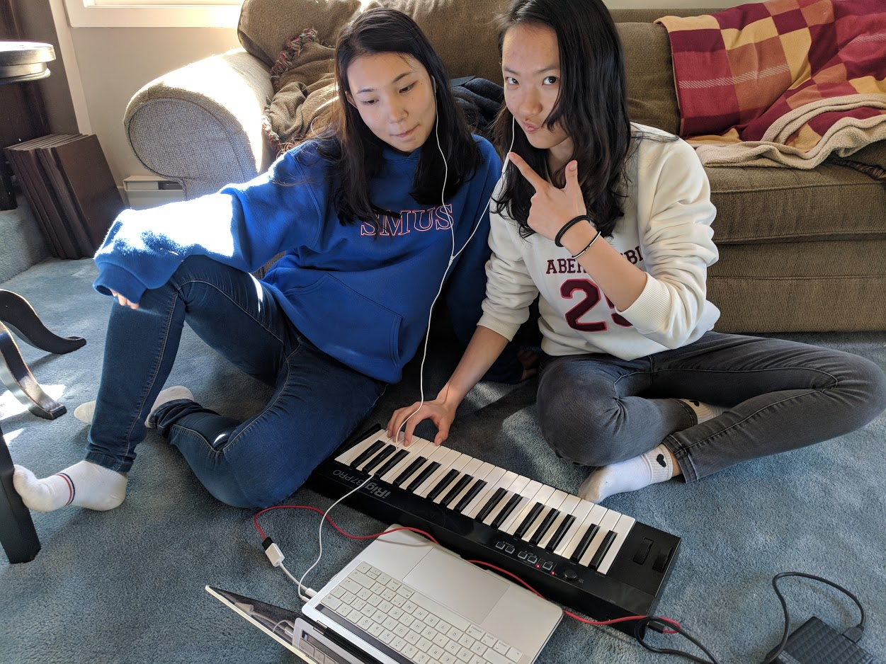Lucy and Caroline Music production Oct 16.jpg
