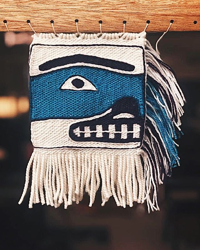 Loving this little sweetie face by @carmaleeda for the #givingstrengthrobe  #chilkat #weaving #purpleisthenewblack