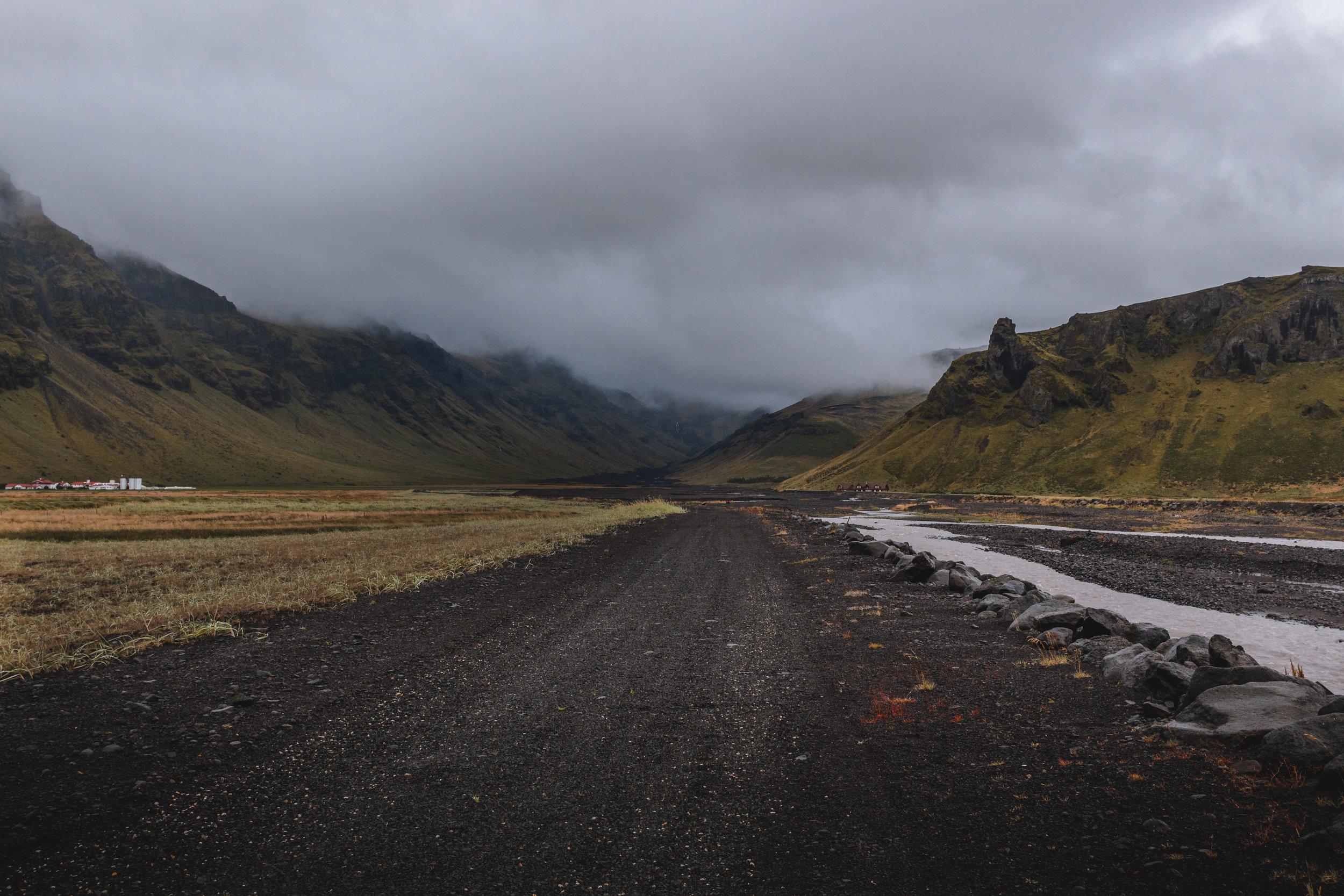 Road leading into Landmannalaugar