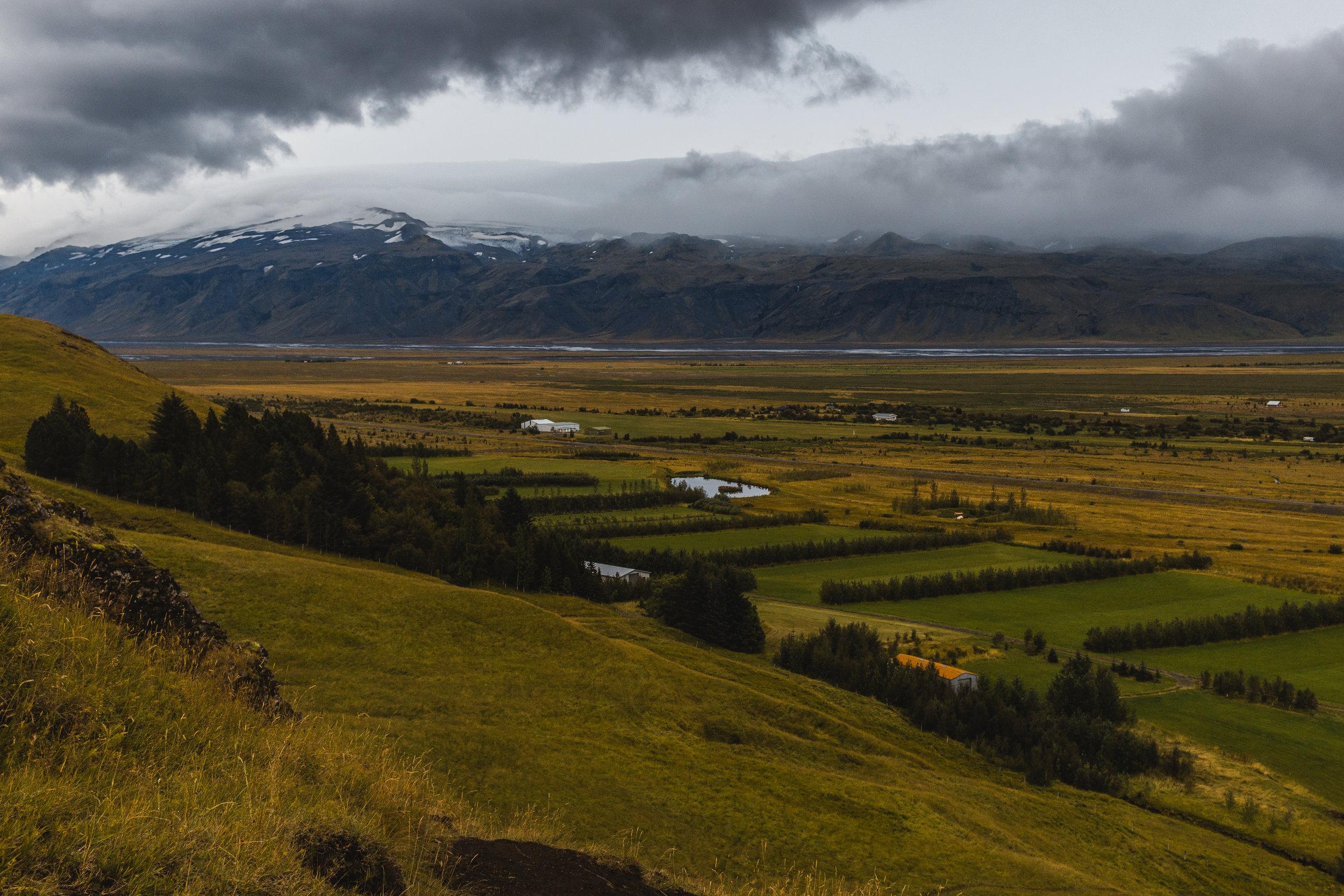 Þórsmörk (Thorsmork) from a mountainside