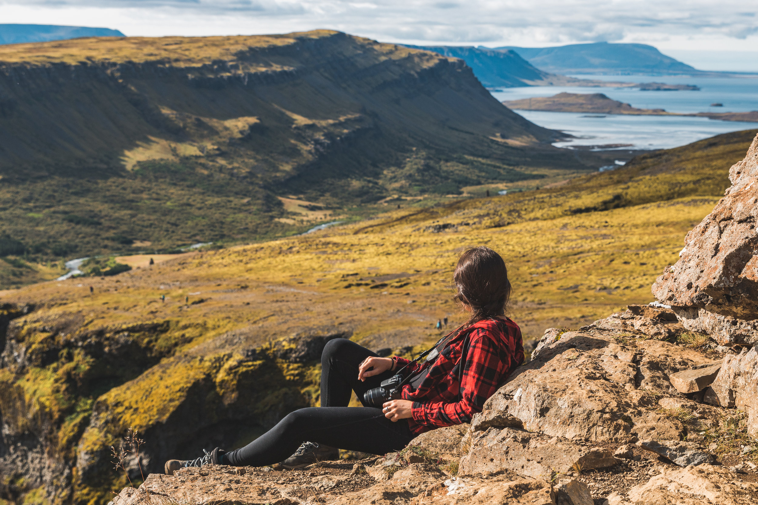 view from a cliff at glymur -   photo by alex iby
