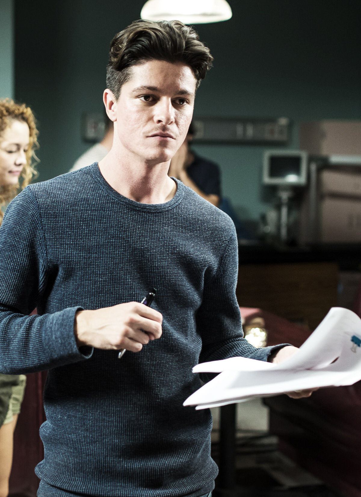 """Nicolas Wendl directing on the set of """"Blend In"""""""