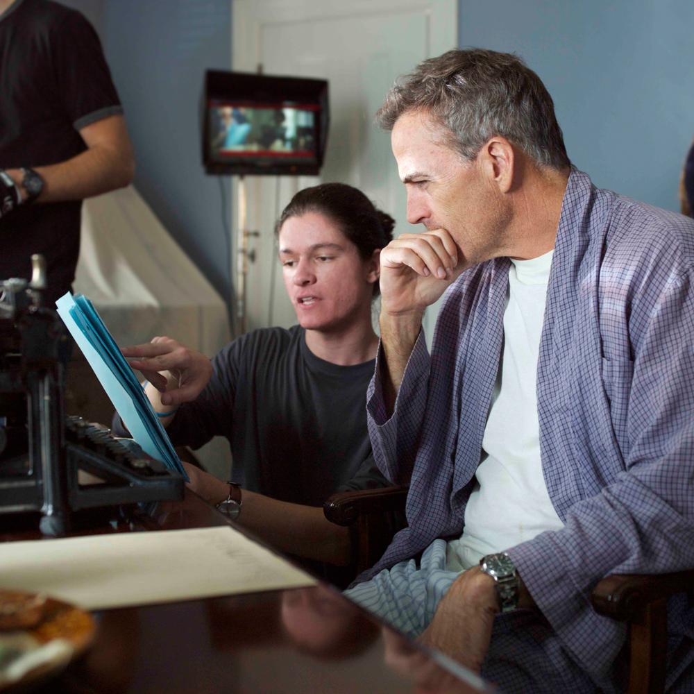 "Nicolas Wendl directing Richard Burgi on the set of ""How They Smiled"""