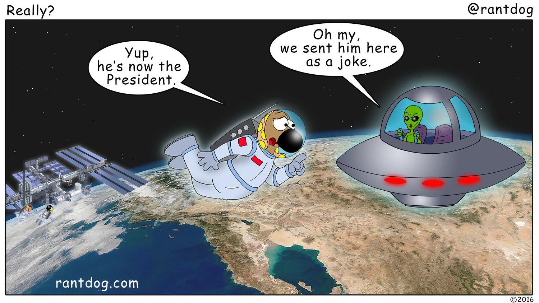 Copy of Rantdog Comics Trump Alien UFO Joke