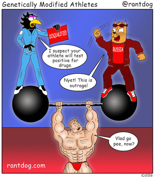 Copy of Rantdog Comics Athletes Steroids