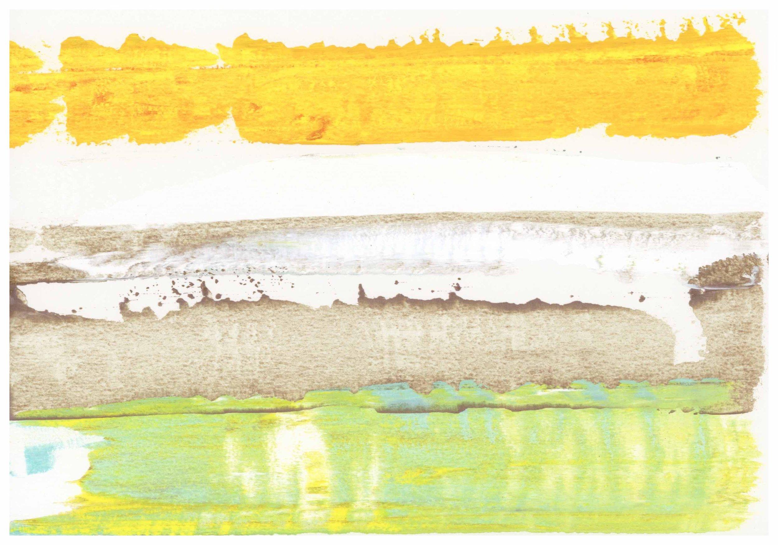 pb#14, 7x10, paper, acrylics, 2018