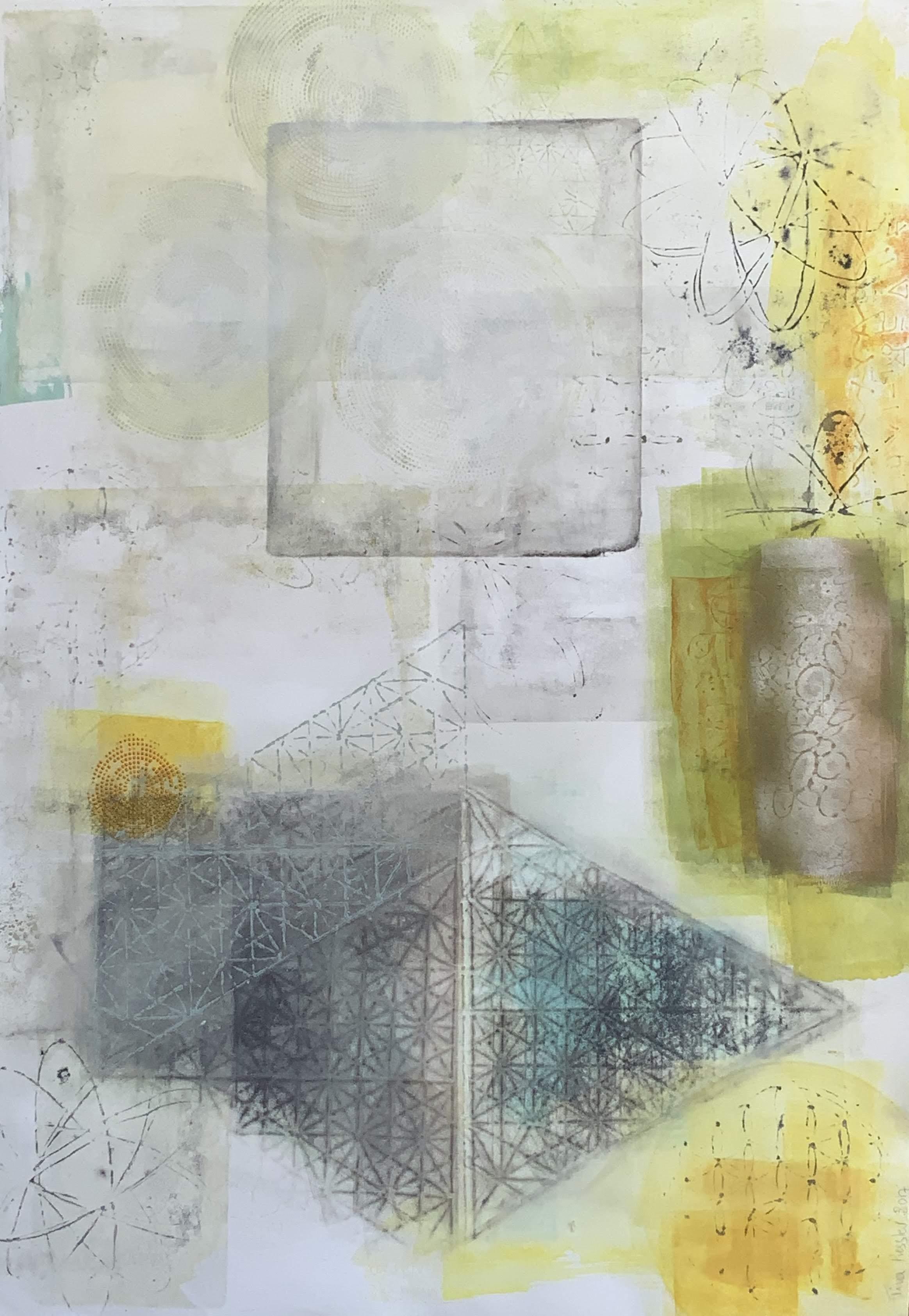 shift #10, 30x40, acrylics, paper, 2017