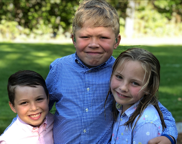 Owen (6 years old), Aidan (10 years old), and Avery (8 years old).