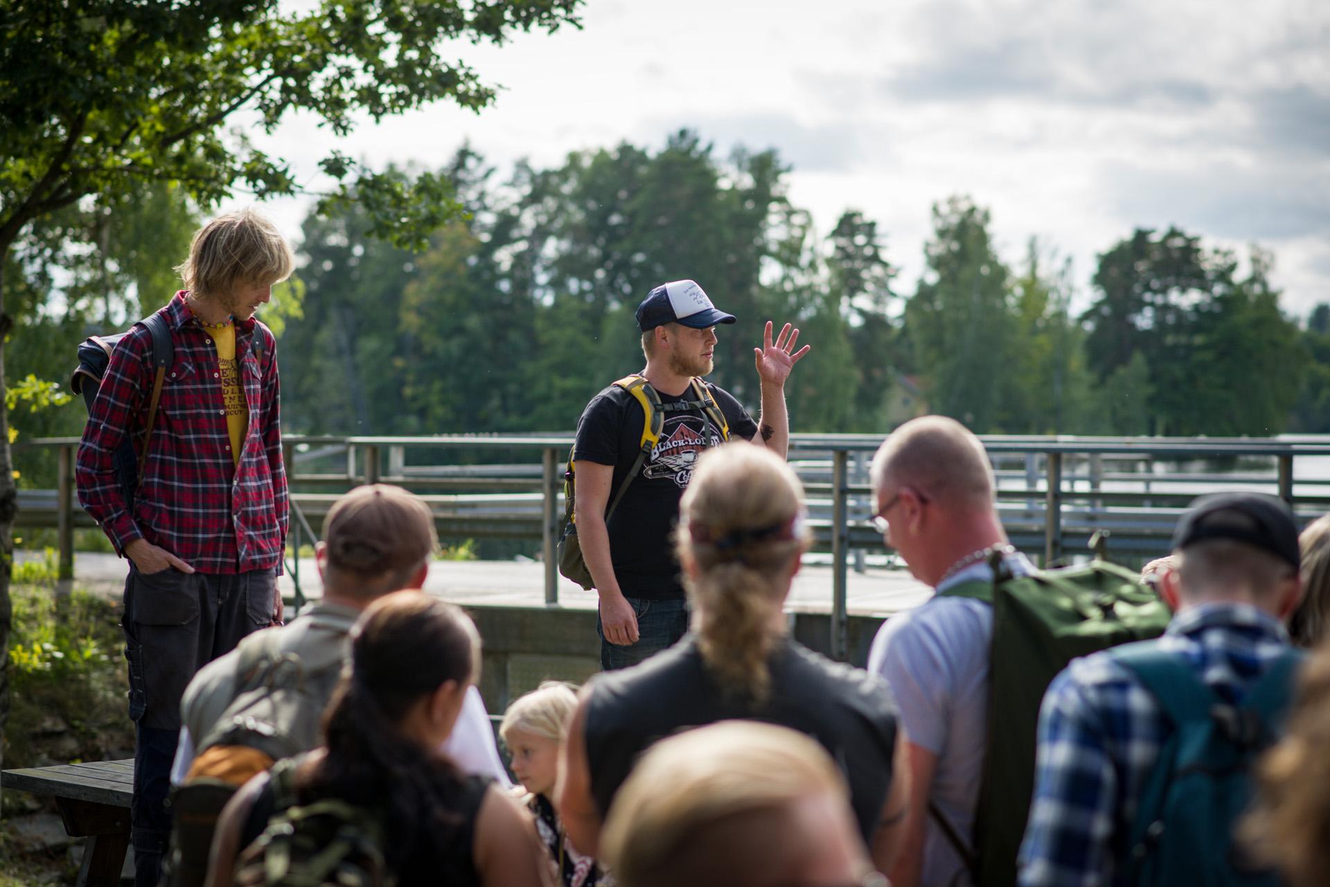 Två glada kulturrepublikaner öppnar 2017 års första kulturriksdag.Upperudsslussen, Pilgrimspop#2. - - pablo picasso