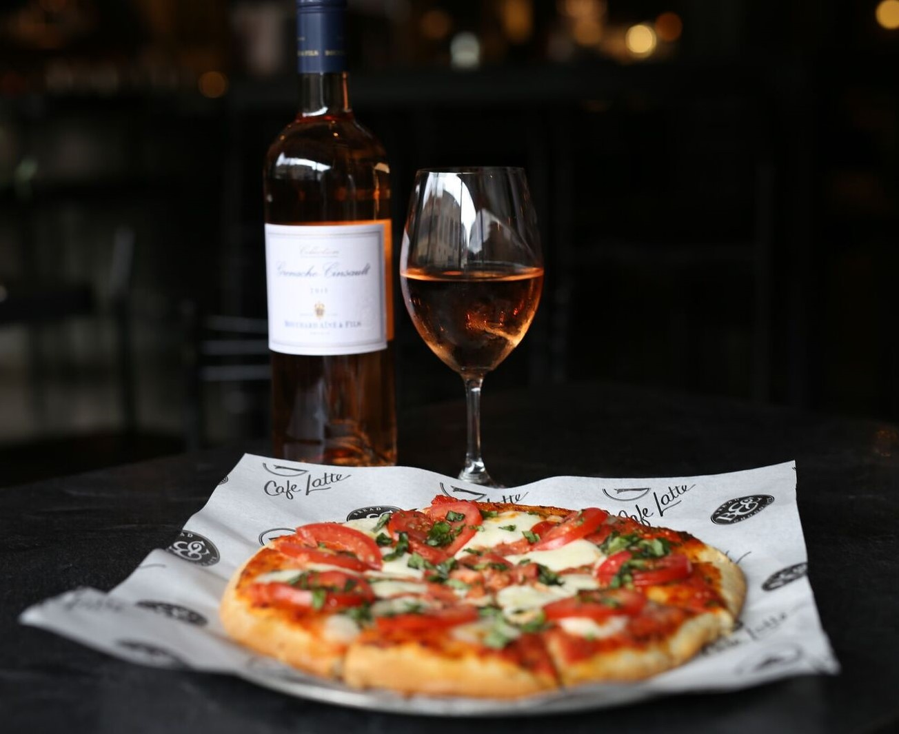 Margherita Pizza + Rose Wine