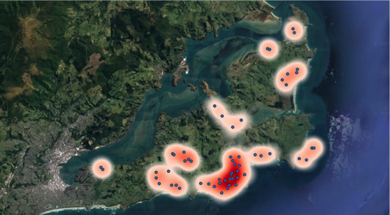 "Under the hotspot map, change the text please from ""Possum distribution and abundance on the Otago Peninsula following 2018 control operations. The intensity of red depicts residual trap catch (RTC)."", to : ""Possum distribution and abundance on the Otago Peninsula following 2018 control operations. The intensity of red depicts residual trap catch (RTC)."""