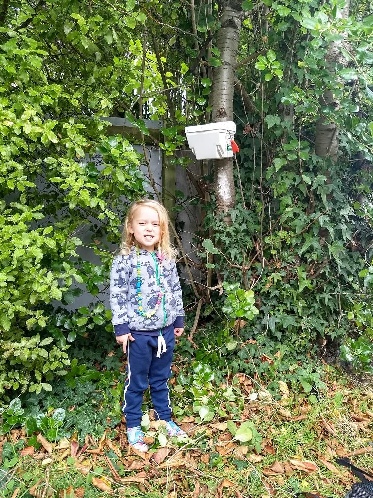 Harriet Dale with Bayfield Kindergarten Trapinator
