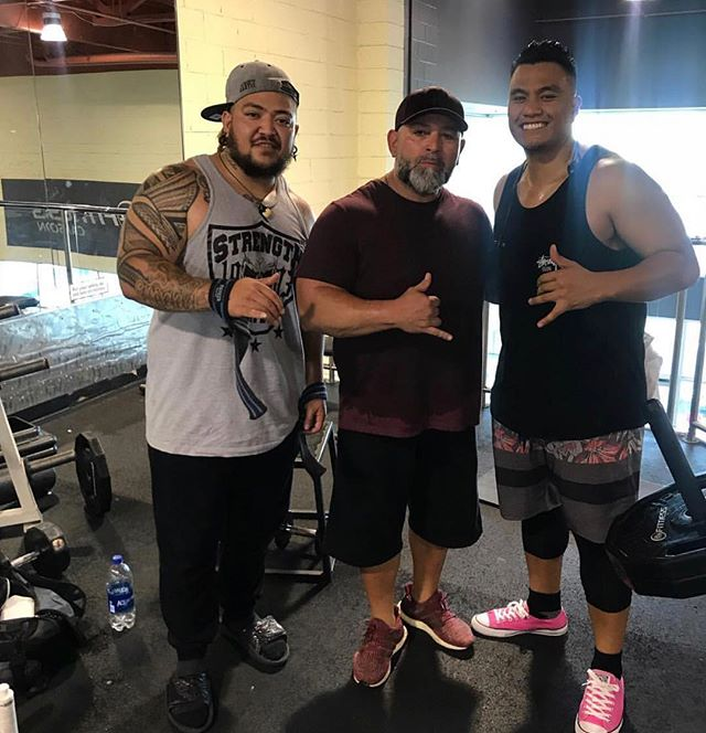 Good to see the bros at the gym getting it 💪🏽@spawnbreezie @lianagkalani