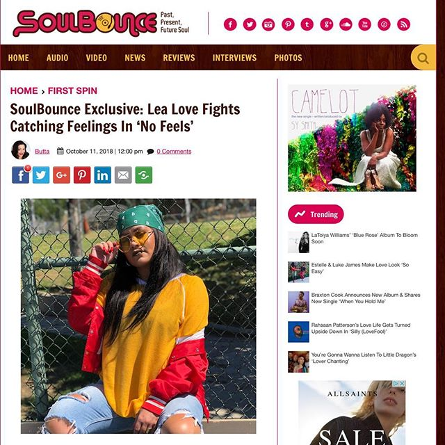 """Check out this dope write up and an exclusive premier of """"No Feels"""" with @soul.bounce (Link in bio) . Super excited to officially drop this record tomorrow, but you can hear it first first right here!!! Click the link in my bio and let me know whatcha think🖤. . . #lealove #lealovemusic #soulbounce #exclusivepremier #nofeels #lealovenofeels #rnb #reggae #soul #producedbyjuanrios #femaleartist #onmygrind #issavibe #islandempire #menschhouserecords"""