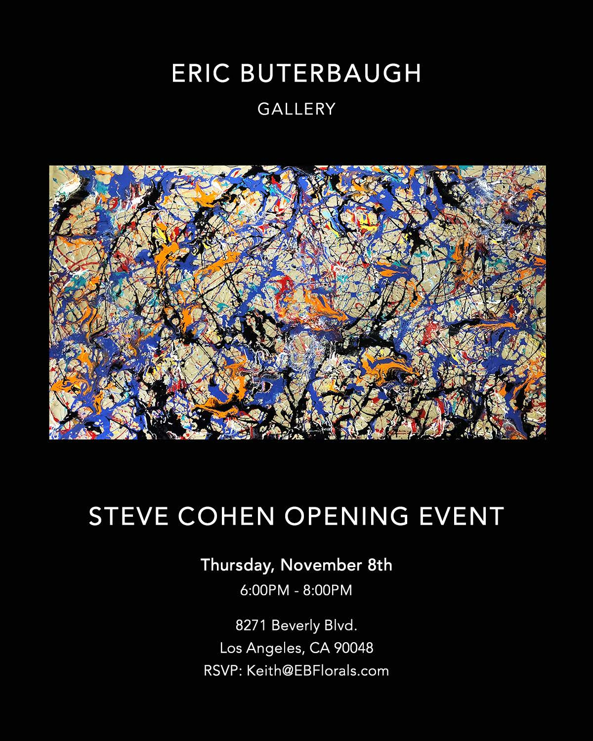 Steve Cohen Solo Exhibit - November 8, 2018