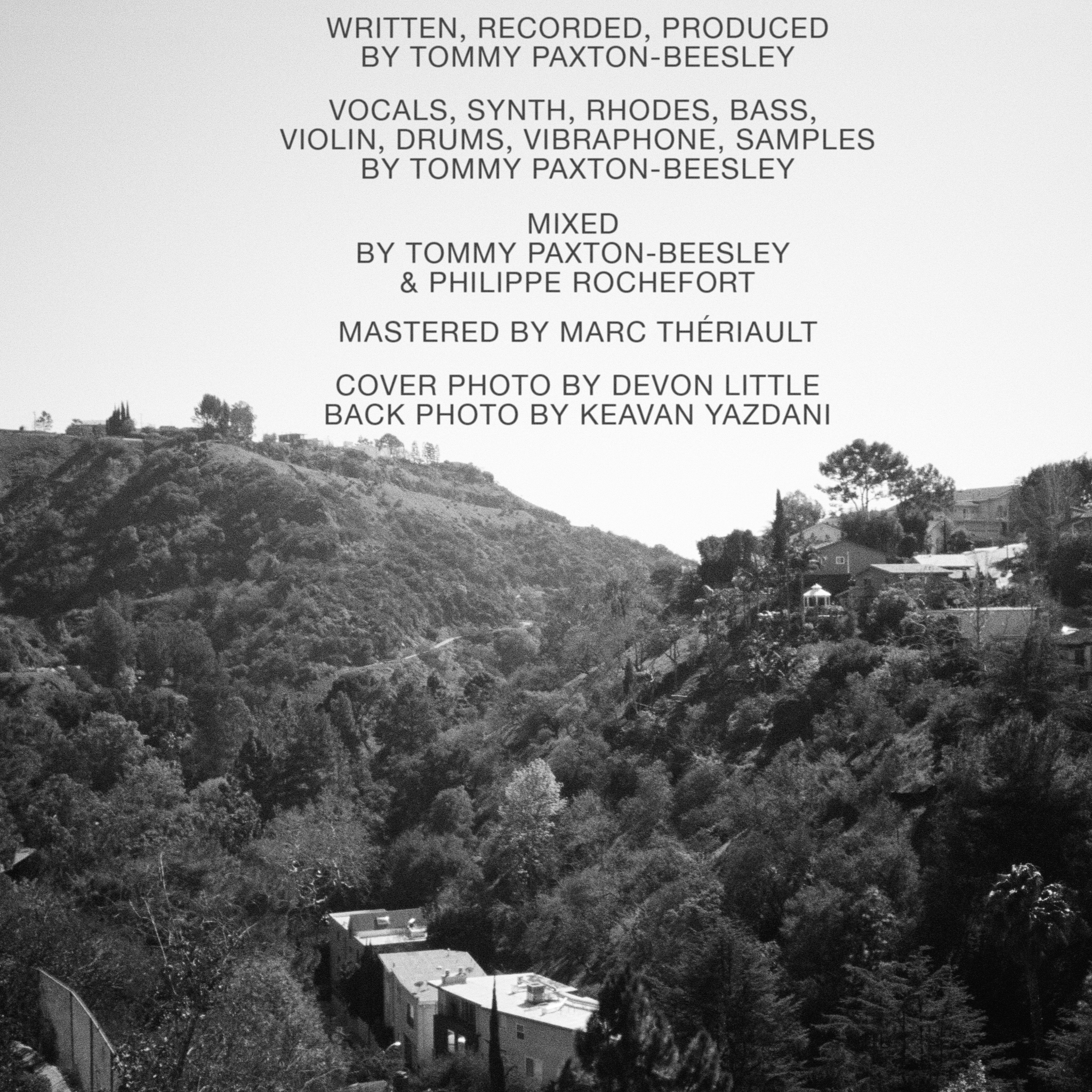 'DEEP END' (Back Cover)