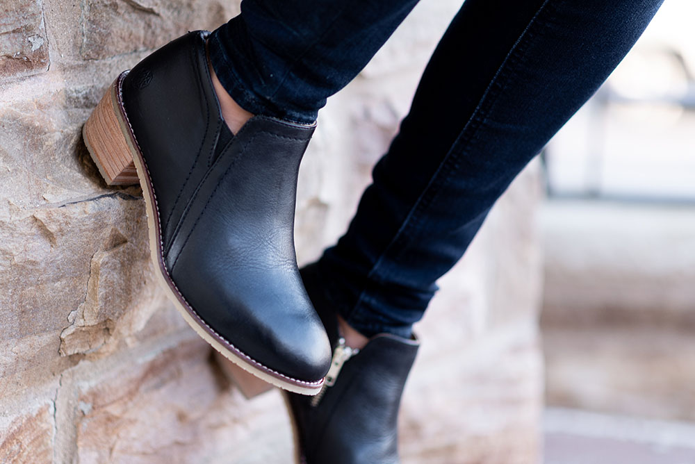 we haveone goal. - To help professional women express their true personality and confidence by creating stylish, comfortable, responsibly-made safety footwear.
