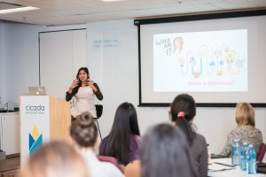 Dr. Dharmica Mistry presenting
