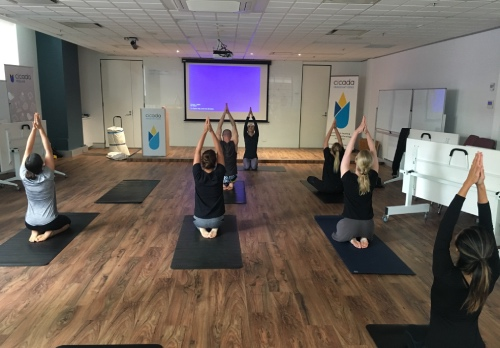 Weekly yoga and run - A chance to put on your runners to unwind with yoga or go for a run.