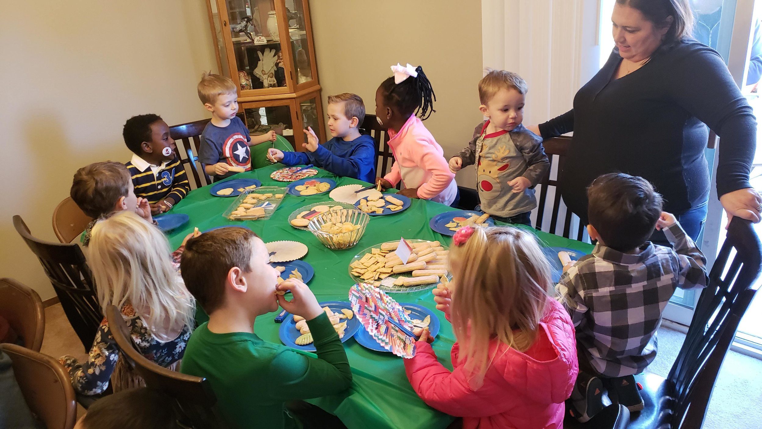 Finally, it was time to take our guests to Europe for an assortment of yummy snacks, which all the kids seemed to enjoy!