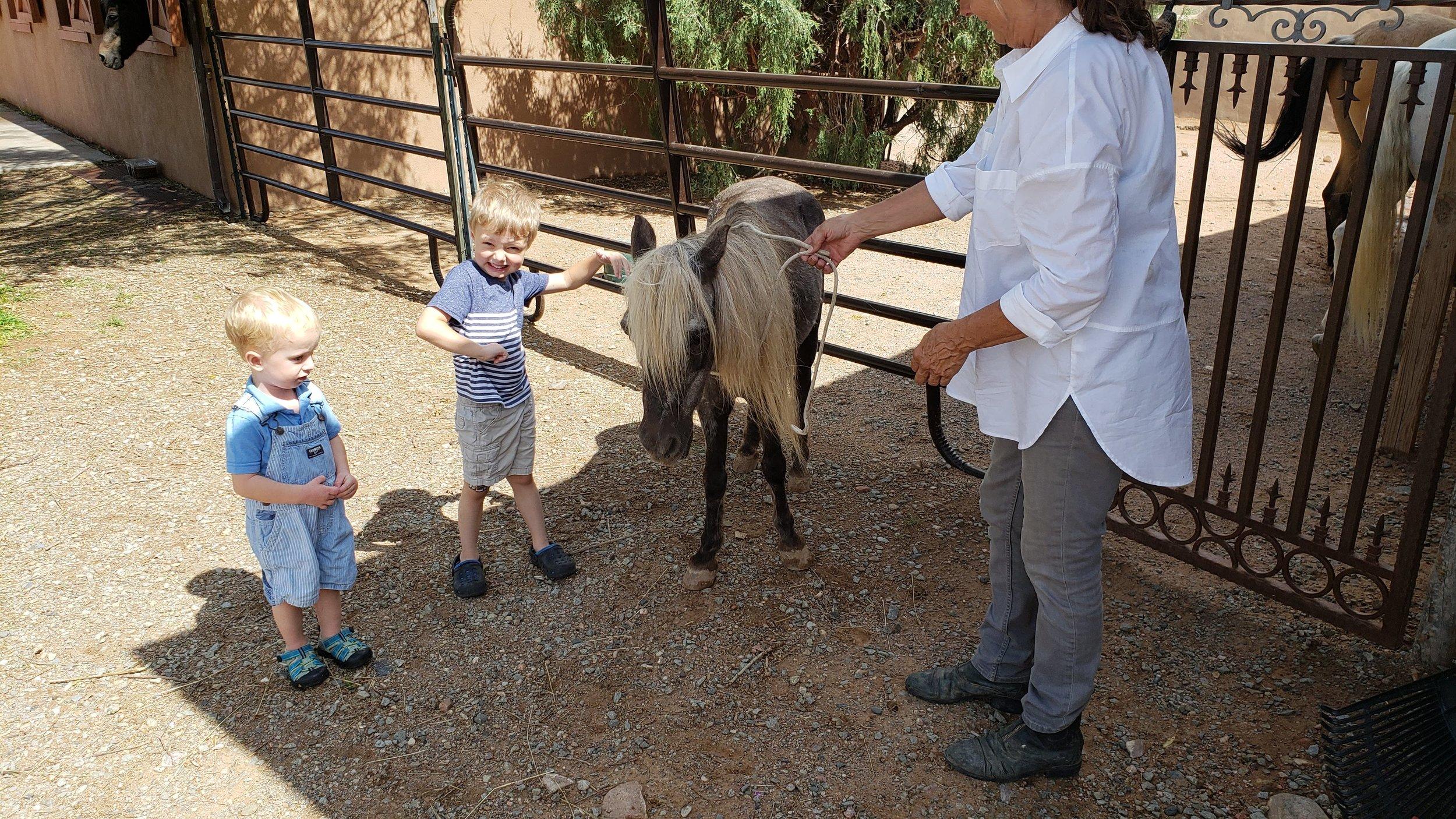 santa fe with kids