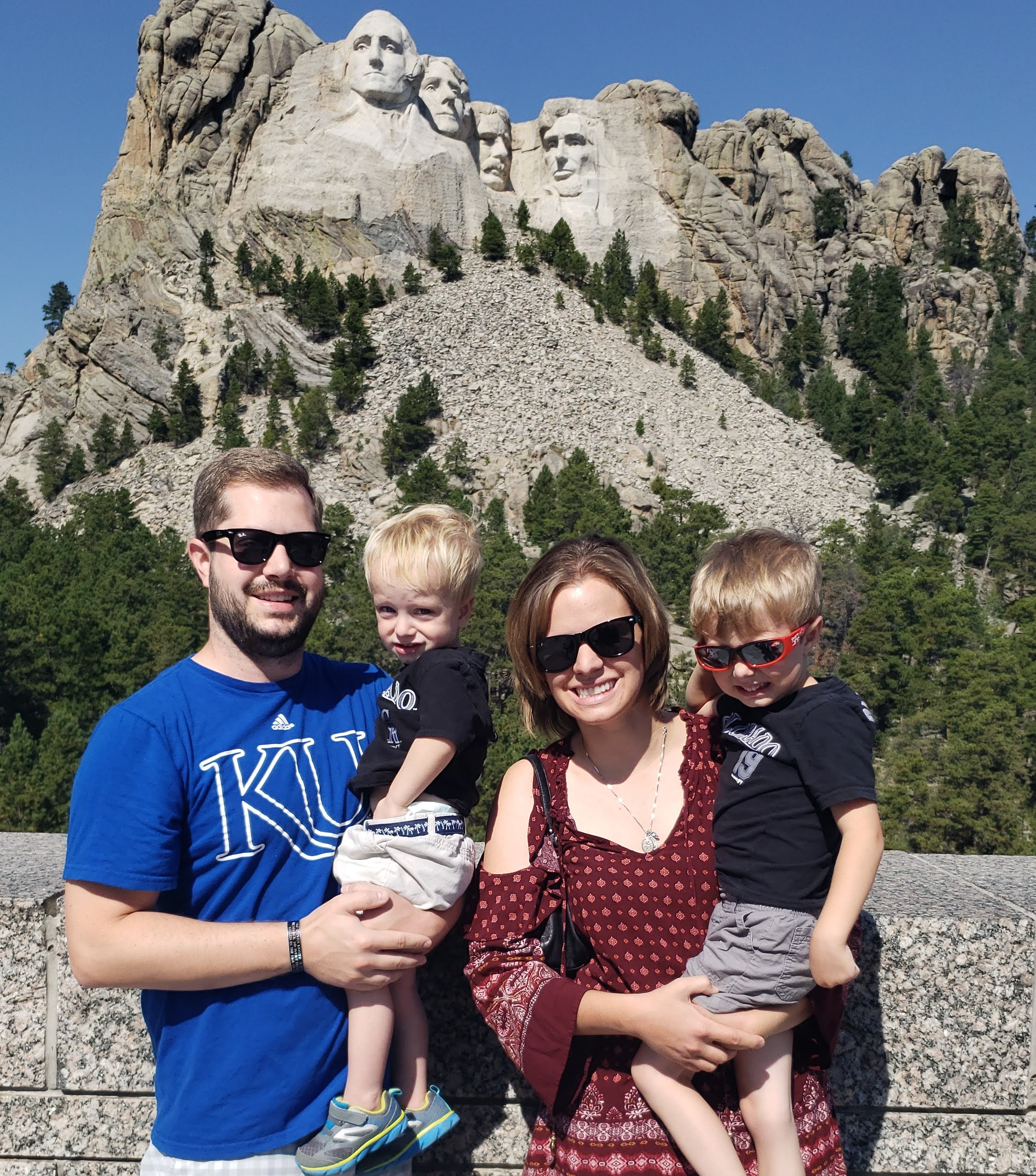 mount rushmore with kids