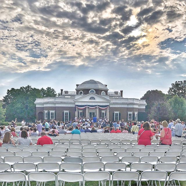 Best thing about being a musician is that we get to share our talents at some pretty amazing ceremonies and places. This morning I performed at Thomas Jefferson's home, Monticello, for the Independence Day Celebration and a naturalization Ceremony. It was amazing to listen to ana great reminder of what it means to be a citizen of this country. Happy 4th if JULY. #4thofjuly #independenceday #naturalizationceremony #monticello #musicianlife