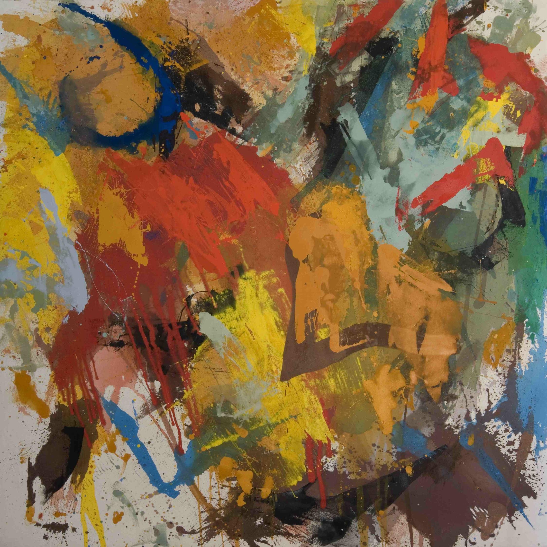 Columbus , 1977, enamel on canvas, 274.3 x 274.3 cm.