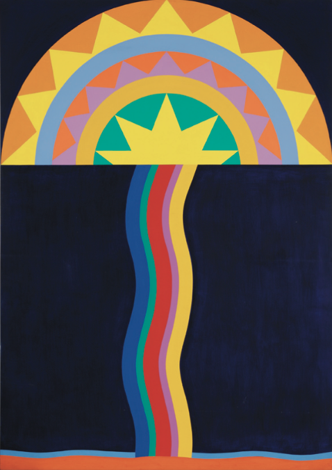 Transoxiana , 1968, synthetic polymer paint on canvas, 203 x 145 cm.