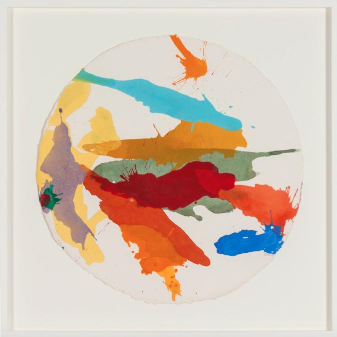 Arctis , 2014, acrylic on handmade paper, 70 x 70 cm.