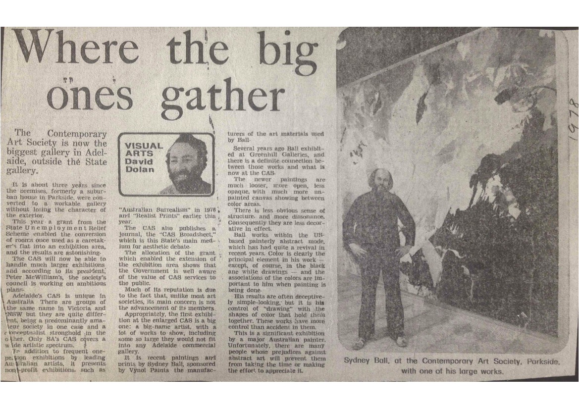 Article ' Where the big ones gather ', David Dolan, The Advertiser, 1978.