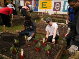Students, Teachers and Sprout Farms Co-Founders
