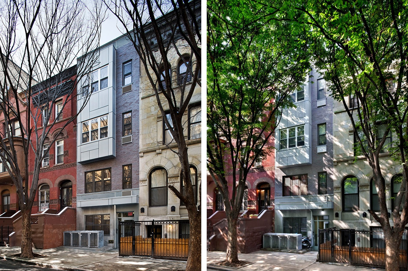 Loci 20: Week 3 - October 10, 2018Week 3: In 2007, we completed a new four-story 5,400 sf apartment building on a city-owned vacant lot. With a very modest construction budget of under $250/sf, we planned well proportioned living spaces and designed an exterior with zinc rain screen panels, bluestone trim, stucco, and brick that complement the neighborhood's rich texture. The completed project resourcefully integrated design features commonly found in more expensive developments with Harlem's need for mixed income housing.