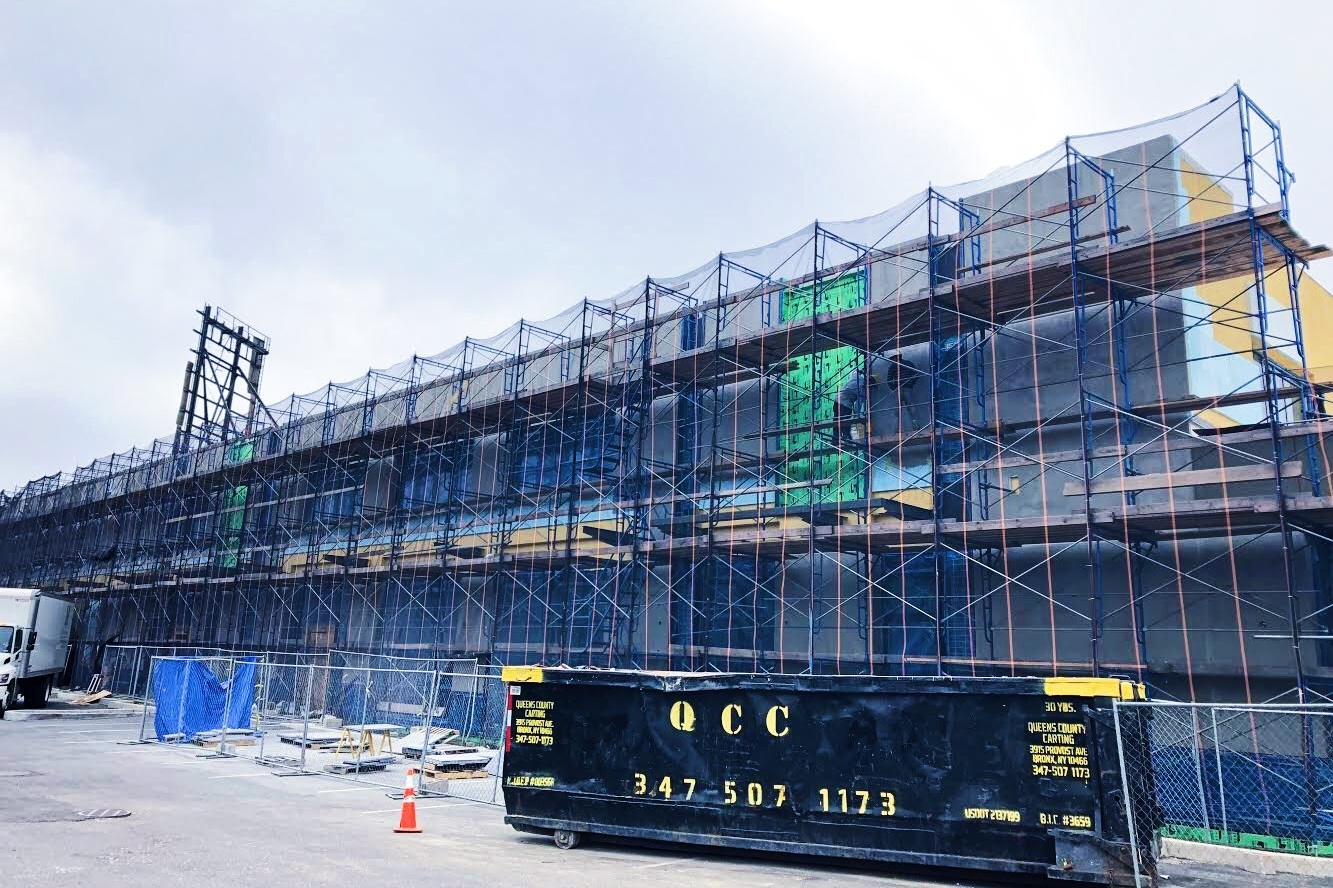 Exterior Renovation Underway In Jamaica Queens - June 14, 2018Exterior Renovation of existing masonry building currently under construction in Jamaica, Queens. The new facade system consists of EIFS, new windows, storefronts and architectural glass block. It will be quite the transformation when it is complete!⠀