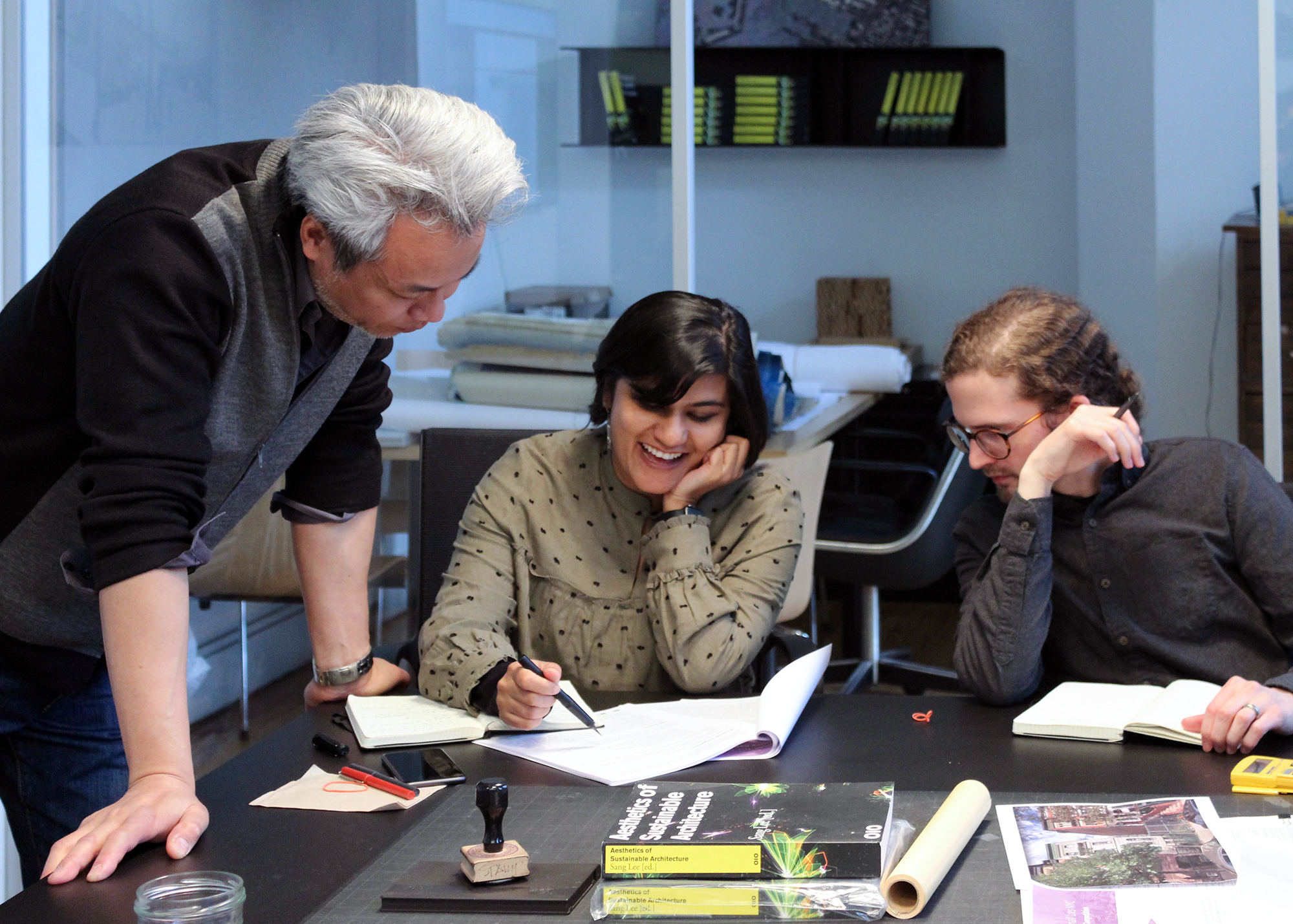 Firm Culture - A successful design practice creates a working environment that is relaxed and inspirational, yet focused on providing the best possible service to its clients. We are skilled designers, architects, and managers with diverse backgrounds who support a collaborative workplace. Each new team member is assigned a mentor who introduces them to the office culture and process. This relationship continues throughout the full term of employment and gives the entire staff insight, training, and a voice in the growth and success of our firm.