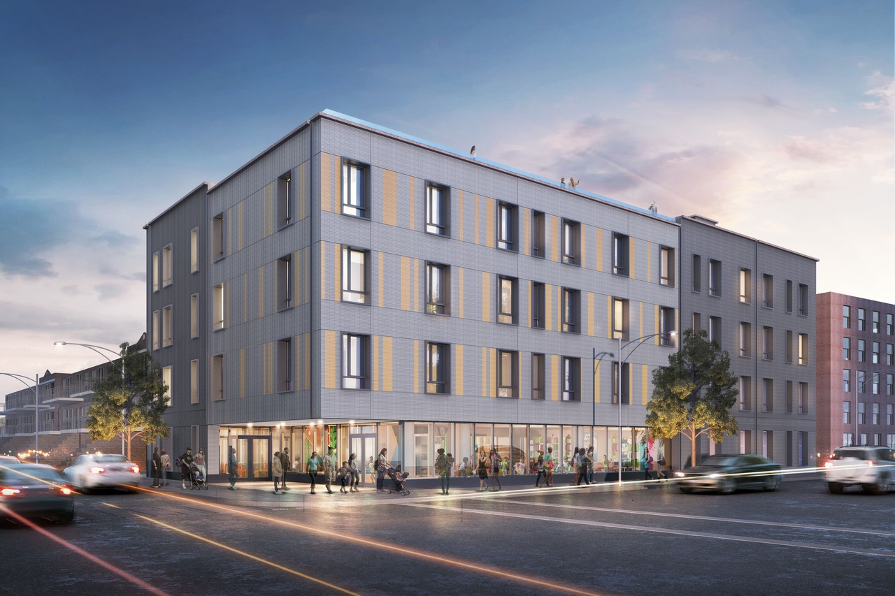 Loci Designs New Mixed-Use Development in the Bronx - May 2, 2019Loci continues its push into multi-family housing design with this proposal for a mixed-use 100% affordable, energy-efficient apartment building in the Eastchester section of the Bronx. If the project is financed, we plan to integrate Passive House principles into its systems and construction detailing. The ground floor will be a day care center serving our client's nearby worker housing complex spanning five city blocks. The upper floors include a mix of one-, two-, and three-bedroom units.