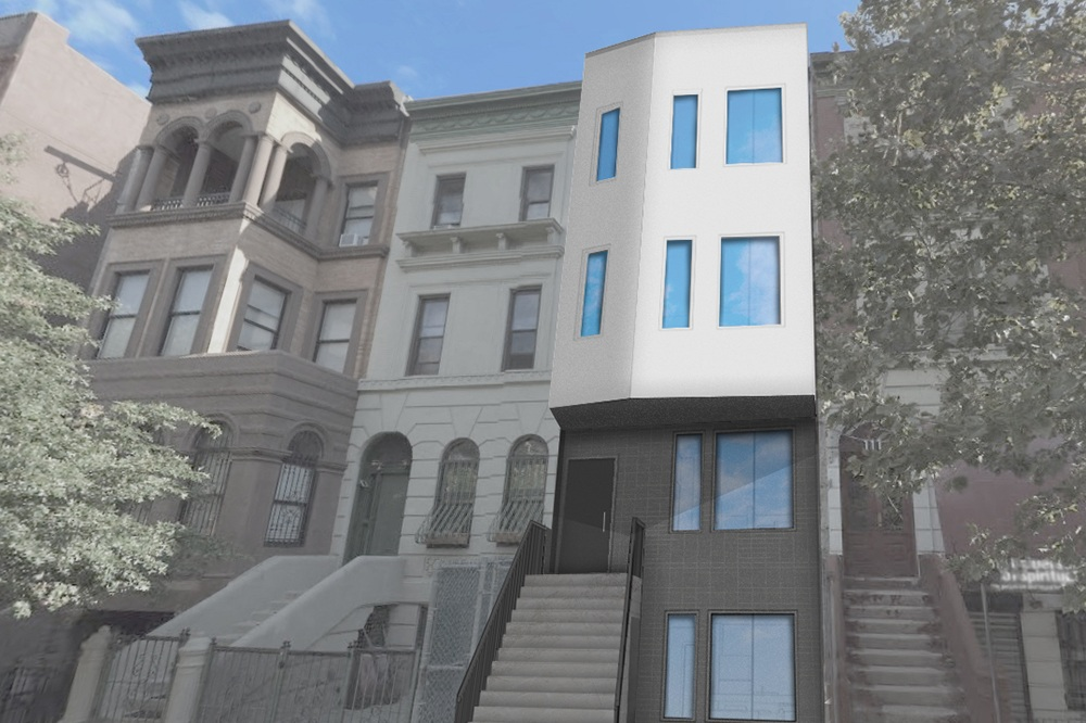 """Loci Enters AIA Big Ideas for Small Lots Competition - May 24, 2019Earlier this year, Loci entered the AIA Big Ideas for Small Lots Housing Design Competition @aianational and submitted our """"Light-Court House"""" affordable housing design for consideration. The Light-Court House is a four-story multi-family affordable housing building embodying several key concepts. Our design maximizes daylight on the long, narrow site through a shared light court that penetrates down through the building's center. It keeps building maintenance costs low by locating all shared circulation in non-conditioned, exterior space. Our design also allows for an increased number of as-of-right dwelling units by combining zoning lots with adjacent, publicly-owned sites."""