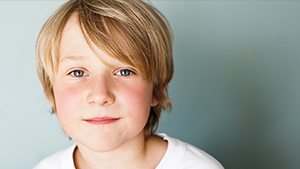 [Image] A young elementary-aged male child from the neck up with blonde hair and blue eyes representing a child of Voices for Children CASA. Voices for Children CASA of Boulder County provides trained,  C ourt  A ppointed  S pecial  A dvocate Volunteers to advocate for the needs of abused and neglected children in Boulder County.