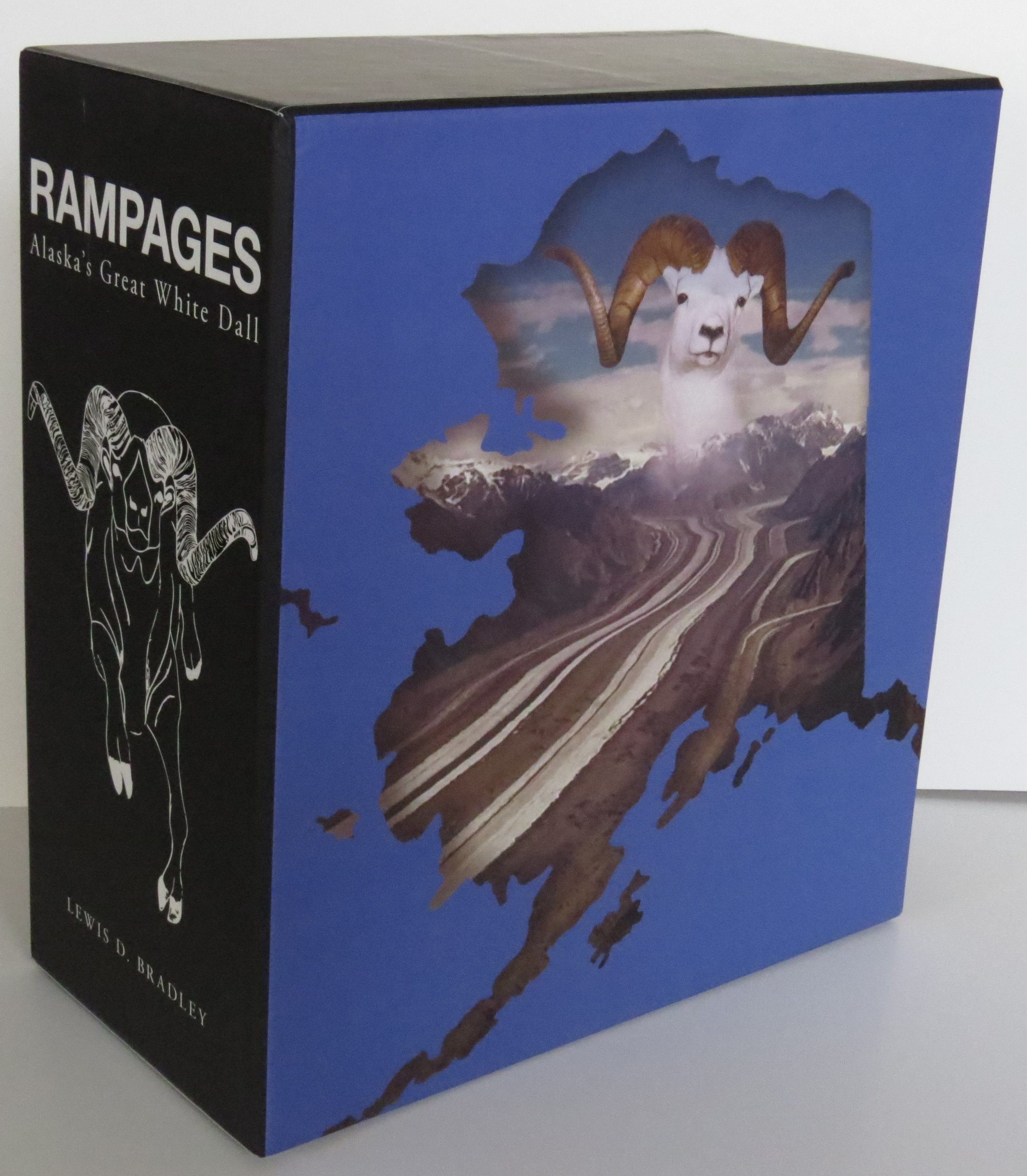 Professional hardbound cover with Swank Ram #1 World Record North American Dall Sheep in the Wrangle mountains of Alaska, taken in 1961
