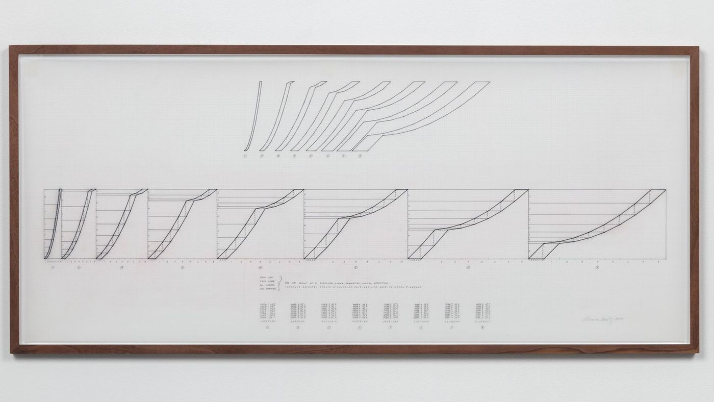 "Channa Horwitz, ""8 Shapes Explanation for Flowing and Numbers,"" 1980. Photo by Brica Wilcox."