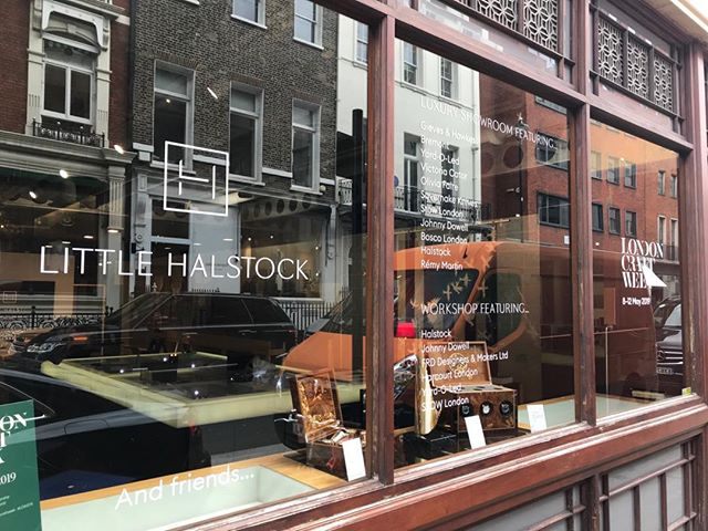 Opening today - our Savile Row pop-up for Little Halstock and London Craft Week featuring a host of wonderful luxury brands, and a basement workshop. Please do drop by - 31 Savile Row open until Saturday at 4pm  @littlehalstock @londoncraftweek #londoncraftweek @stowlondon @bremontwatches @oliviafaire @savernake_knives @remymartin @berrybrosrudd  @boscolondon @harcourt.london @londonconnoisseur @thomasjoynessculpture @martin_kemp_design @brandsoftomorrow @walpole_uk #luxurycraftsmanship #beyondluxury #craftingluxury #londoncraftweek #savilerow #mayfair #bespokewatchwinders #watchwinders #luxuryvespoke #luxurydesign #luxuryunteriors