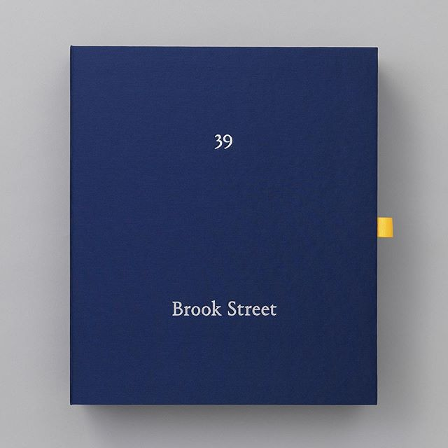 Great to see the legendary Browns moving from South Molton Street to truly wonderful 39 Brook St. We were asked to create a 'brochure' for this important site by Grosvenor and decided that a simple property brochure would not suffice. A wonderful silk covered box, a novella written by @jessiebrinton and a secret compartment all designed by @kucharswara and illustrations by @jessica_henley_price in a limited edition of 50. 39 Brook St with its enclosed garden and listed interiors should provide a fitting home for @brownsfashion #farfetch #luxuryretail #brookstreet #brandingmayfair #luxurybranding #luxuryproperty #mayfair #luxurydesign