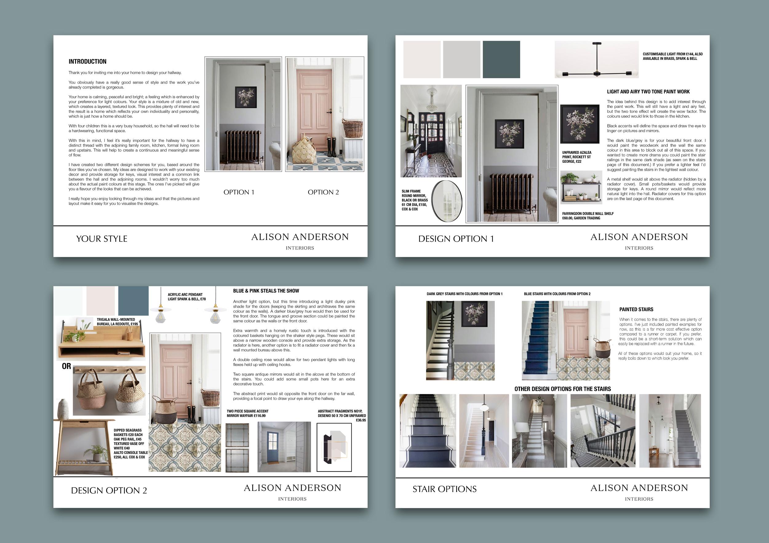 Hallway - Initial Design Concepts