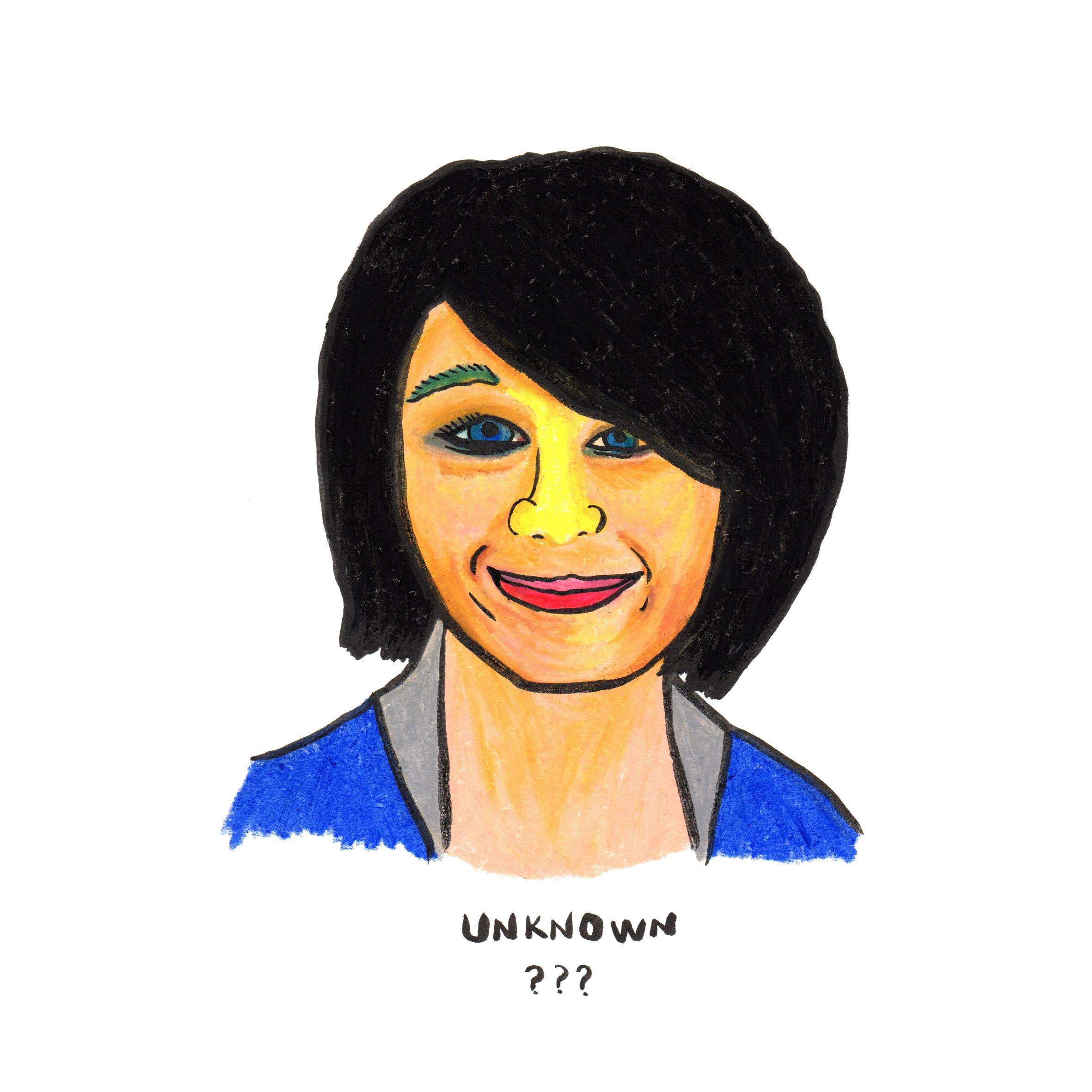 an unkown short hair lady.jpg