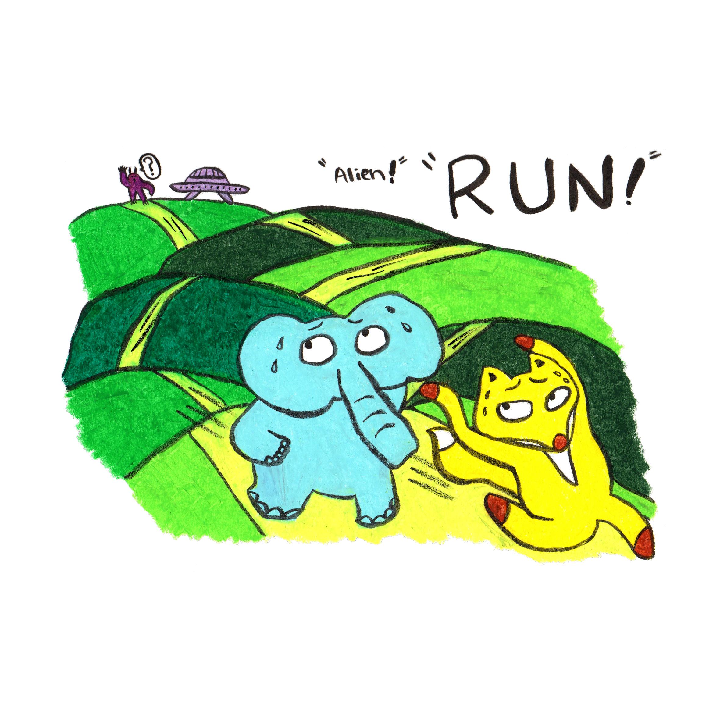 """""""Alien!"""" """"Run!"""""""