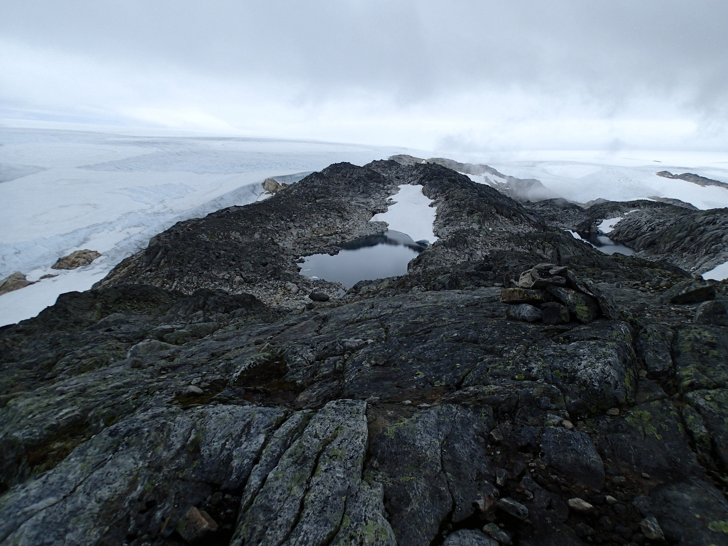 Folgefonna Glacier, Norway (2014)  August 2014, I hiked to Folgefonna Glacier, on the West Coast of Norway. Similar to my island research of exploring shorelines, this residency I explored the glacial rim - where the ice meets rock.
