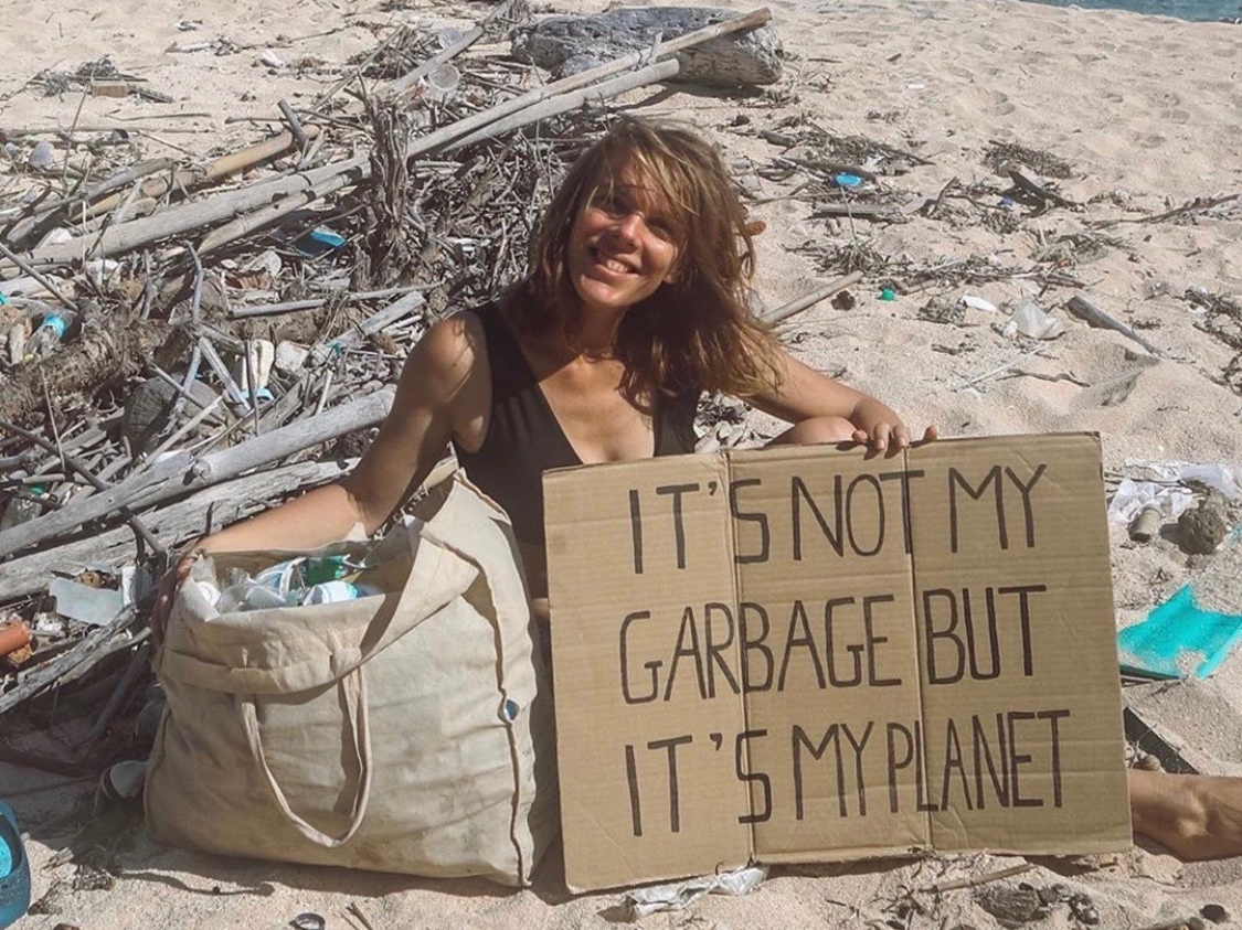 """When we pick up rubbish, we help normalise caring for our planet."" Via  @laurainwaterland"