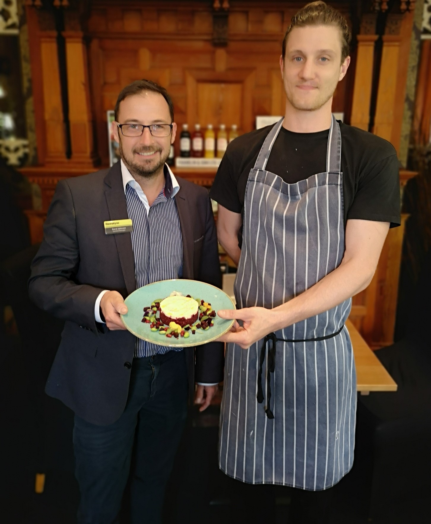 Daryl Johnson Resort Manager Bannatyne Health Club & Spa Bury St Edmunds with Chef Nicholas Hazelton