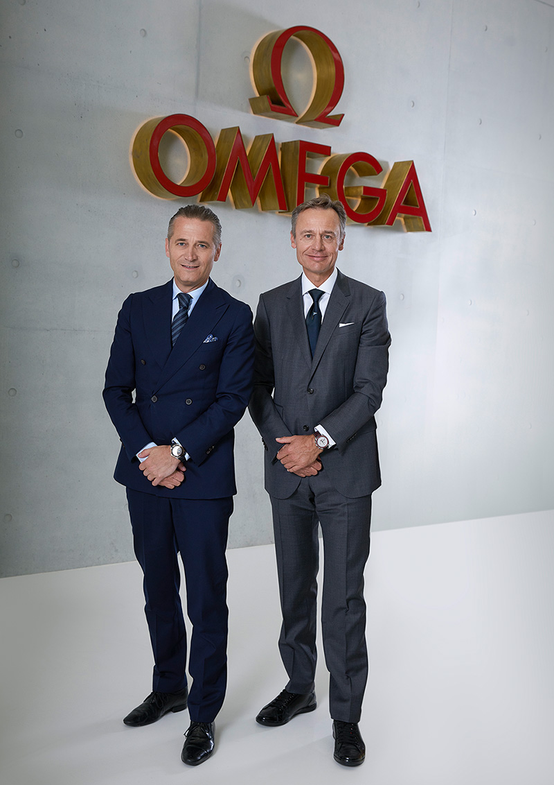 Raynald Aeschlimann, President and CEO of OMEGA, along with Ernesto Bertarelli, Founder and Skipper of ALINGHI..jpg